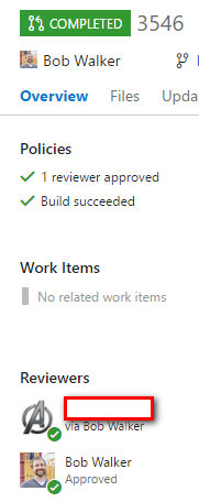 Approved Pull Request in VSTS